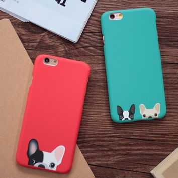 Cartoon Cute Pocket Dogs Phone Cases For iphone 5 5S SE 6 6S Plus Back Cover Red Green Color Dog Capa Fundas Coque YC1933