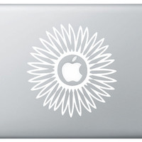 sunflower decal sticker for laptop, car, cute flower decals adorable graphic stickers