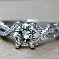 TACORI Inspired  135 carat Round  Pave  Antique by PetrasRocks