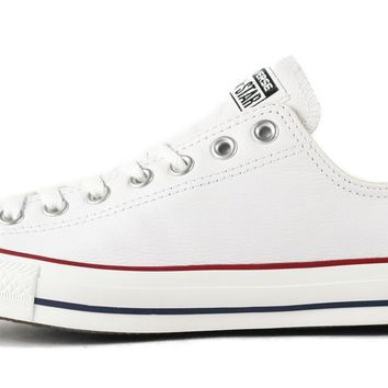 converse unisex ct ox white leather sneaker
