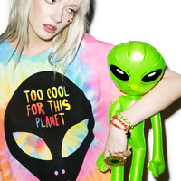Burger And Friends Too Cool For This Planet Tee Tie Dye