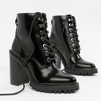 ASOS DESIGN Elm Wide Fit Chunky Lace Up Boots at asos.com