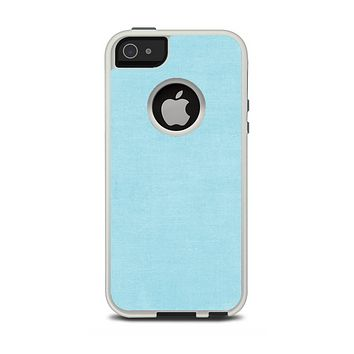 The Vintage Blue Surface Apple iPhone 5-5s Otterbox Commuter Case Skin Set