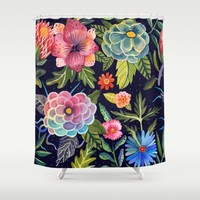 Cosmic Florals Shower Curtain by Aitch