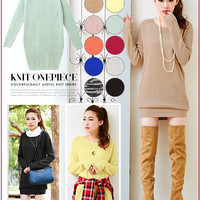 12 colors!!Fashionable knitted one-piece