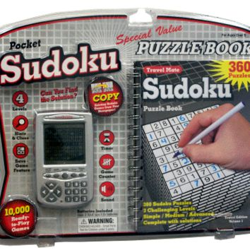 Electronic Pocket Sudoku With Travel Puzzle Book