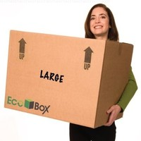 EcoBox Large Moving Boxes Genuine Size 24 x 18 x 18 Inches, Pack of 7 (V-6825)