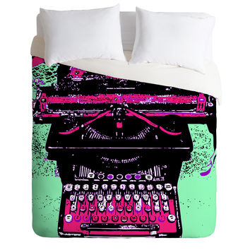 Romi Vega Antique Typewriter Duvet Cover