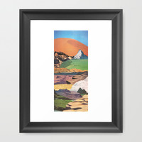 Peaks And Plateaus Framed Art Print by Jesse Treece