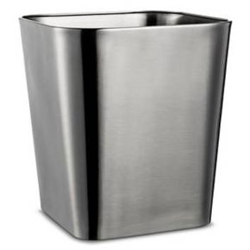 Wastebasket Rounded Square Brushed Nickel - Threshold™ : Target