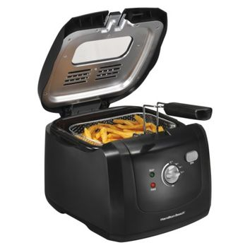 HAMILTON BEACH Black HB Cool Touch Fryer - 8 Cup