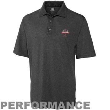 Cutter & Buck Alabama Crimson Tide 2012 BCS National Champions Football Logo Championship Performance Polo - Charcoal - http://www.shareasale.com/m-pr.cfm?merchantID=7124&userID=1042934&productID=555855089 / Alabama Crimson Tide