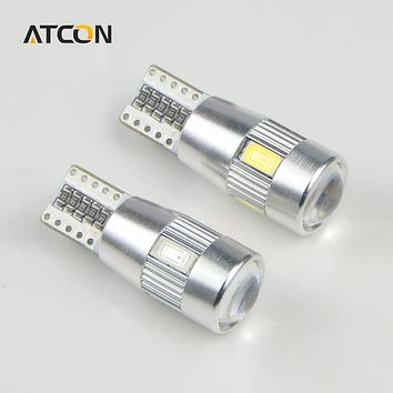 1X T10 W5W 194 Auto Car light CANBUS LED Bulb Daytime Running light No Error Fog Parking Clearance lamp with Projector Lens lamp