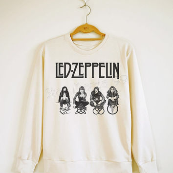 Led Zeppelin TShirt Rock TShirt Heavy Metal Rock Sweater Shirt Sweatshirt Jumpers Shirt Long Sleeve Shirt Women Shirt Unisex Shirt SizeS,M,L