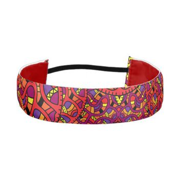Colorful Organic Pattern Athletic Headband