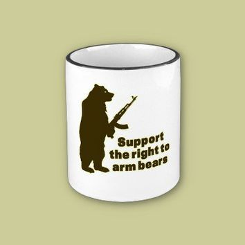 Support the right to arm bears coffee mugs from Zazzle.com