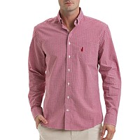 The Berner Button-Down in Sweet Berry Red by Johnnie-O
