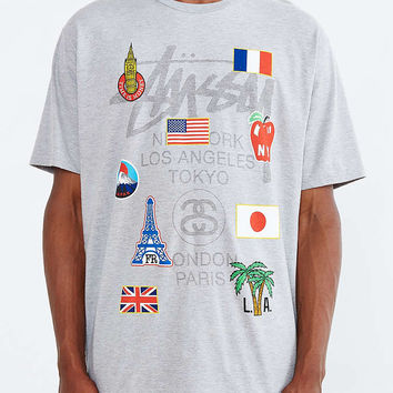 Stussy World Tour Flags Tee - Urban Outfitters