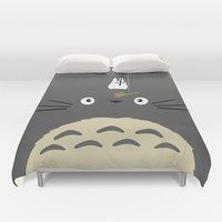 Cute Totoro Duvet Cover by Minette Wasserman