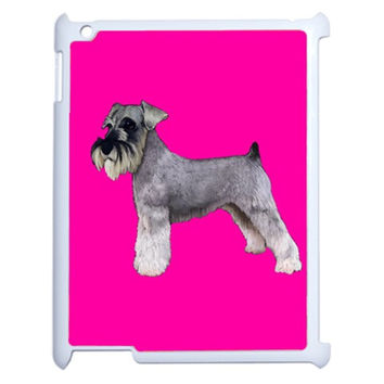 BP Miniature Schnauzer Dog Gifts Apple iPad 2 Case (White)