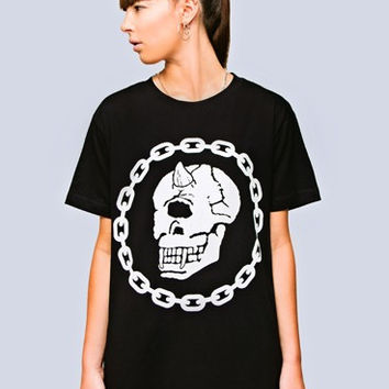 Long Clothing x Mishka Collaboration Chain Regular Fit Top