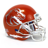 Mini Helmet Orange Chrome Eye | Boise State Bronco Shop