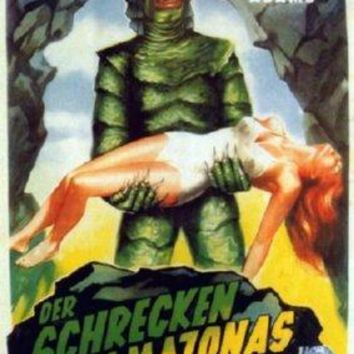 Creature From The Black Lagoon German Mini movie poster Sign 8in x 12in