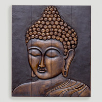 Wood Buddha Face Wall Hanging - World Market