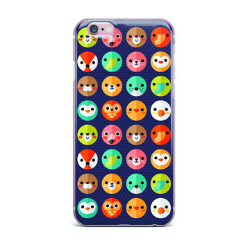 """Daisy Beatrice """"Smiley Faces Repeat"""" Animal Pattern iPhone Case"""