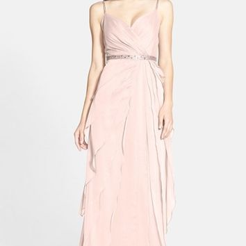 Women's Adrianna Papell Tiered Chiffon Gown
