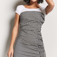Gingham Strapless Mini Dress