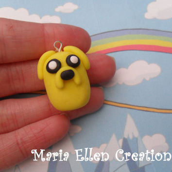 Adventure Time Jake polymer clay charm