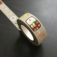 Washi Tape / Japan Sticky Adhesive Tape / Decorative Masking Tape Scrapbooking Tools Favor Stationery/ Sushi Bento 10m m15