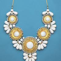 Gold & White Waikiki Statement Necklace | Shop All Jewelry | fredflare.com