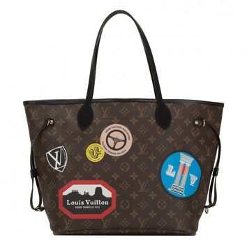 "Louis Vuitton ""World Tour"" Limited Edition Monogram Neverfull MM"
