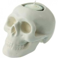 Skull Tealight [White]