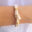 Cream Love Rope Wrap