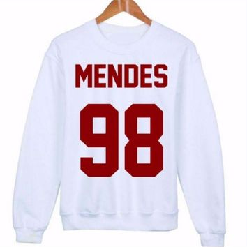 LMFIH3 MENDES 98 red word [front] fashion women's English sweater