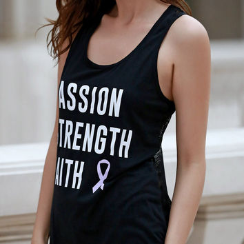 """Passion Strength Faith"" Tank Top"