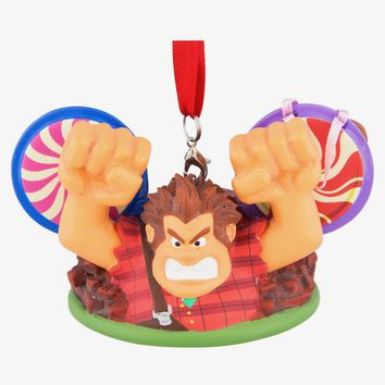Disney Parks Wreck It Ralph Ear Hat Christmas Ornament New
