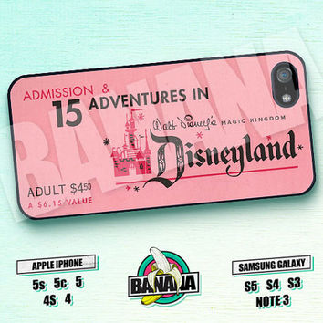 Disney, Ticket, 15th Adventures, iPhone 5 case, iPhone 5S case, iPhone 5c case, Phone case, iPhone 4 Case, iPhone 4S Case, Phone Skin, DY06
