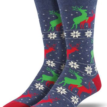 Naughty Reindeer Games Men's Crew Socks