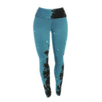 "Robin Dickinson ""Star Light"" Celestial Forest Yoga Leggings"