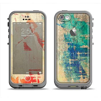 The Grunge Multicolor Textured Surface Apple iPhone 5c LifeProof Fre Case Skin Set