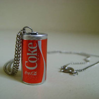 Vintage Mini Coke Can Necklace/ 80s Accessories