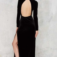 Nasty Gal Zealot for Velvet Dress - Black