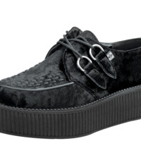 Black Crushed Velvet Creeper