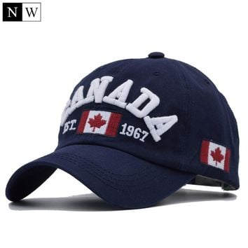 [NORTHWOOD] 2017 Cotton Gorras Canada Baseball Cap Flag Of Canada Hat Snapback Adjustable Mens Baseball Caps Brand Snapback Hat