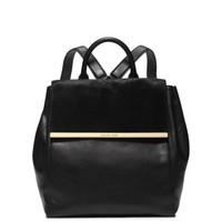 Lana Hair Calf and Embossed-Leather Backpack | Michael Kors