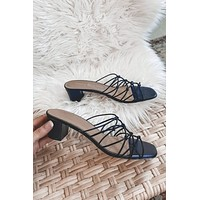 CHINESE LAUNDRY Lizza Gore Black Sandals
